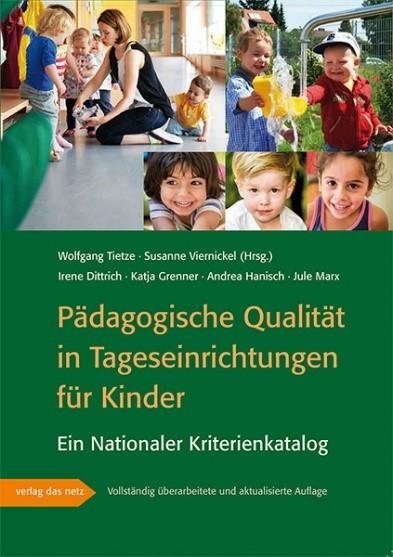 """Titelbild der Broschüre Nationaler Kriterienkatalog NKK - """"Pädagogische Qualität in Tageseinrichtungen für Kinder"""""""