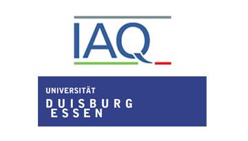 Logo des Instituts Arbeit und Qualifikation (IQA) und Logo der Universität Duisburg-Essen