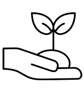 Piktogramm Keimling in Hand