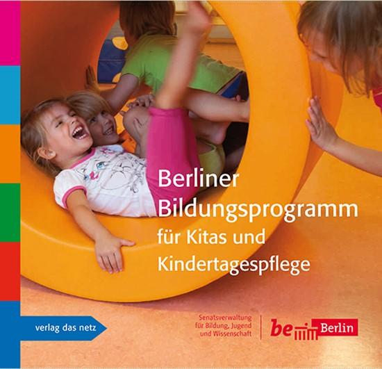 Cover des Berliner Bildungsprogramms für Kitas und Kintertagespflege