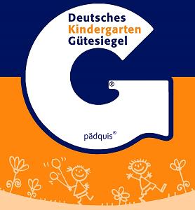 Logo des Deutschen Kindergarten Gütesiegels von pädquis